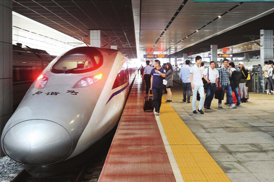沪昆高铁贵阳北至北京西g82次动车