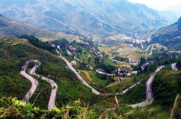 贵州农村路道及房子风景