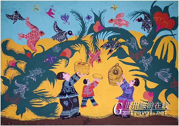 贵州农民画五大画乡 大山深处的艺术奇葩图片