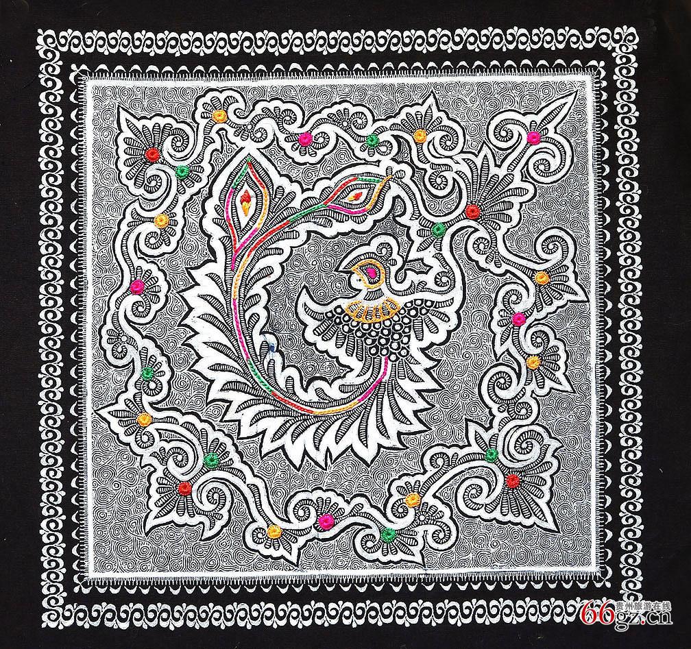 织金刺绣蜡染画--蔡群作品