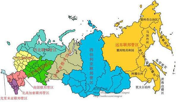 (俄罗斯地图 来自网友@地图看世界)