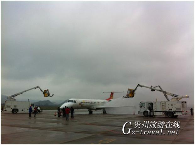 图为天津航空飞机参演现场