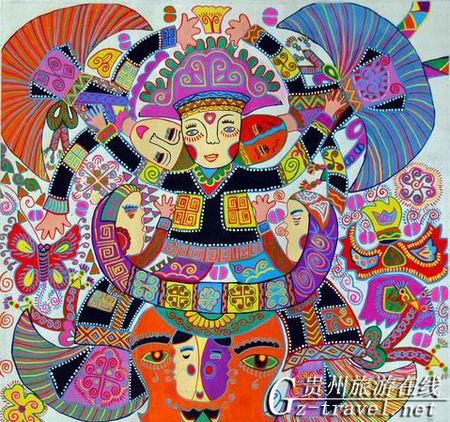 贵州省现代民间绘画展暨画乡优秀作品展6